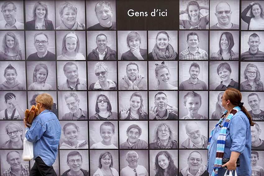Festival photo, portraits des habitants de la ville